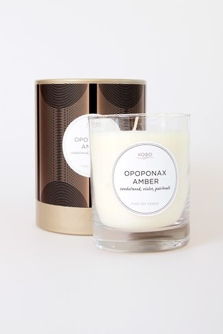 Scented Candle Opoponax Amber Mix