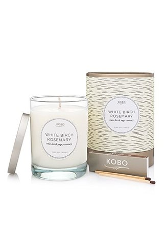 Scented Candle White Birch Rosemary Mix