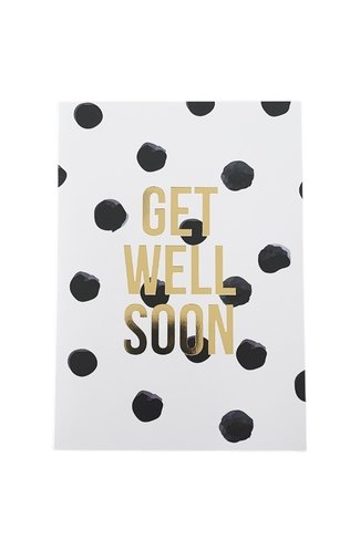 Get Well Soon Card Ecru