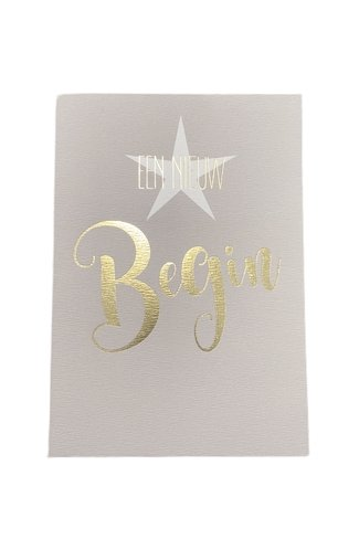 Een Nieuw Begin Card Cream