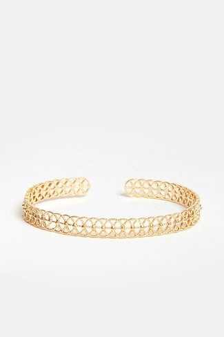 Geometric Bangle Bracelet Gold
