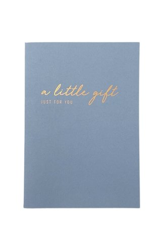 A Little gift Just For You Card Blue
