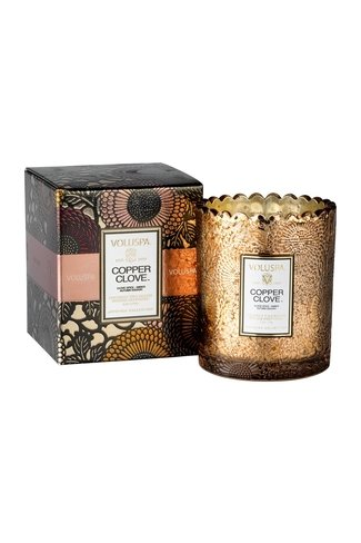 Copper Clove Scalloped Scented Candle