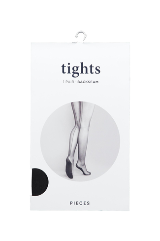 Pcparty Backseam Tights Black
