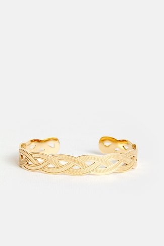 Braided Cuff Bracelet Gold
