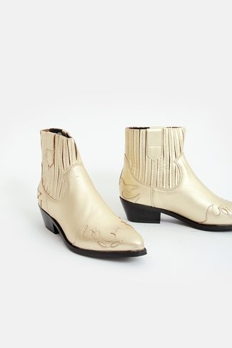 Western Boots Gold
