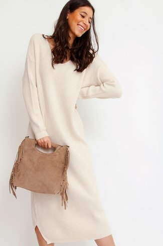 Fringes Suede Bag Camel Sweet Like You