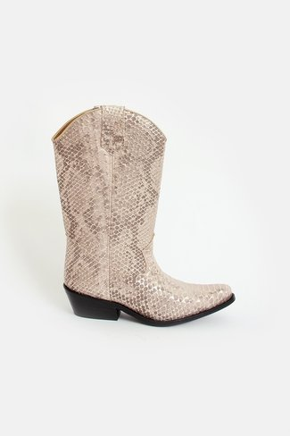 High Texas Western Boots Snake Print