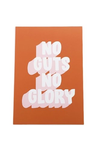 No Guts No Glory Card
