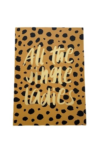 All The Jingle Ladies Animal Print Card