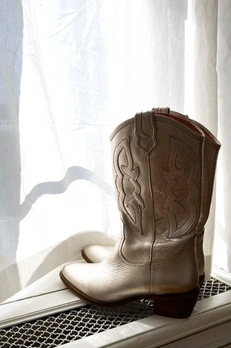 High Western Boots Gold