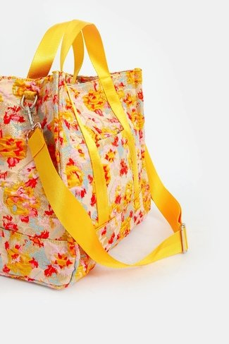Floral Printed Bag Yellow