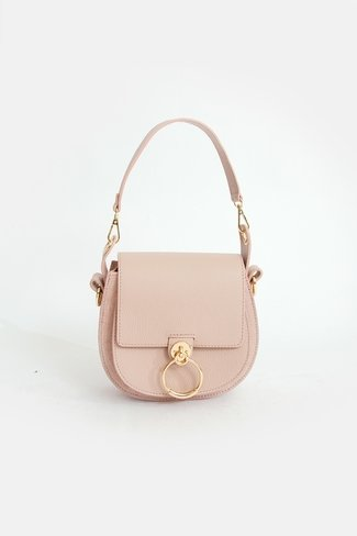 Leather Bag Golden Ring