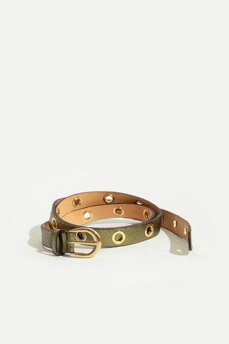 Studded Belt Green