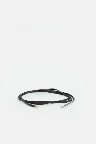 Thin Leather Belt Black