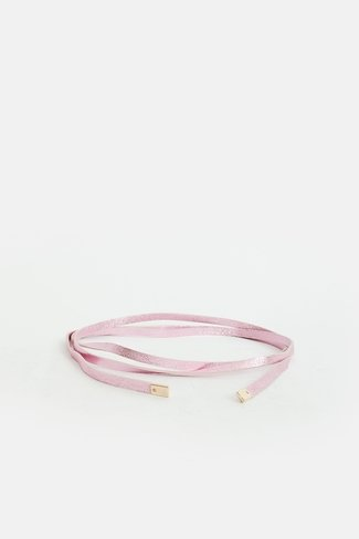 Thin Leather Belt Pink