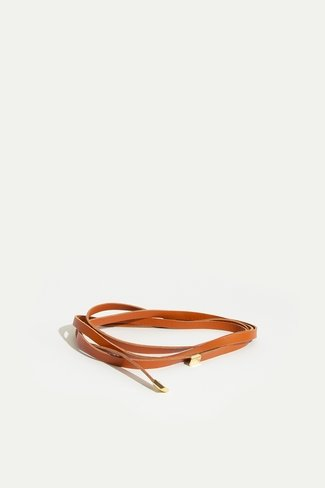 Thin Leather Belt Brown