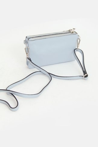 Double Zipper Bag Blue