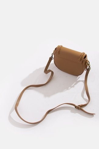 Braided Leather Bag Camel