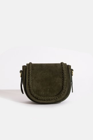 Braided Suede Bag Green