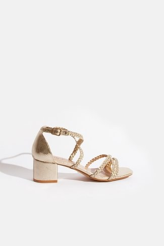 Golden Braided Sandals Gold