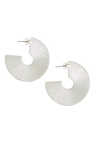 Viefj Round Earrings Silver