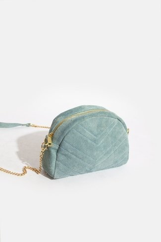 Round Chevron Bag Blue