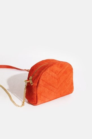 Round Chevron Bag Orange