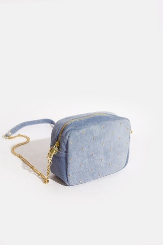 Square Gold Dots Bag Blue