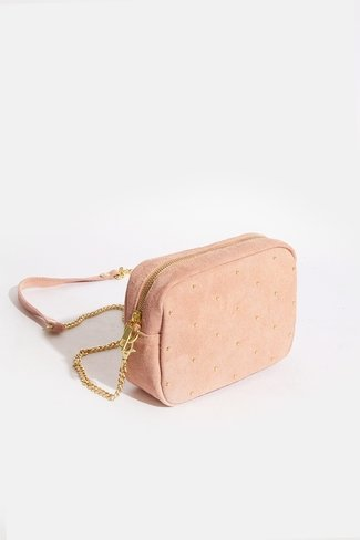 Square Gold Dots Bag Pink