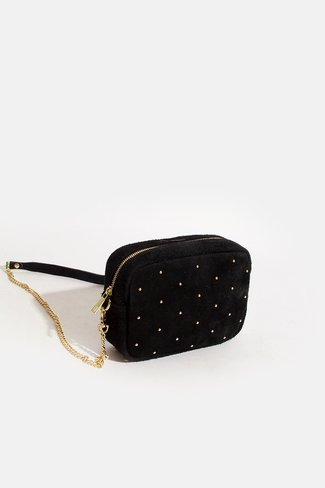 Square Gold Dots Bag Black