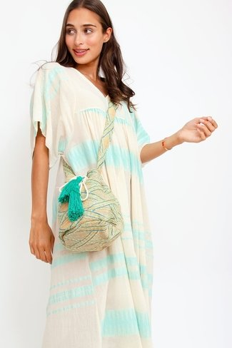 Bohemian Tassel Bag Green