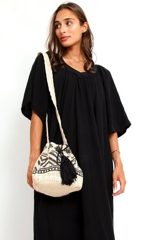 Bohemian Tassel Bag Black