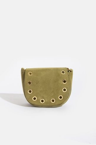 Studded Ring Bag Green Sweet Like You