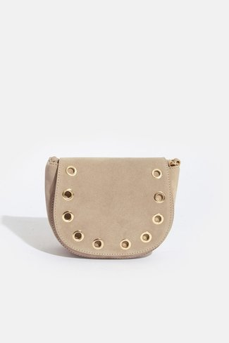 Studded Ring Bag Beige