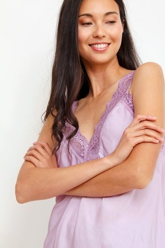 Lace V-neck Top Lilac
