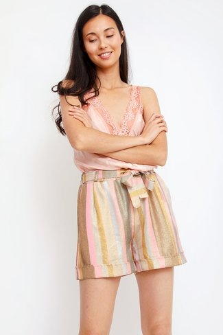 Shimmering Stripe Shorts Mix Sweet Like You