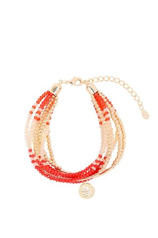 Groovy Beads Bracelet Red