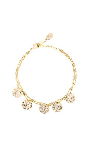 Double Coin Bracelet Gold