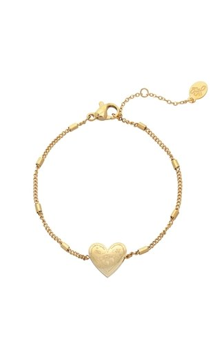 Love To Travel Bracelet Gold