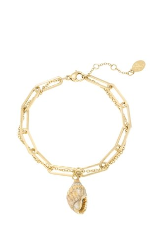 Thick And Thin Seashell Bracelet Gold