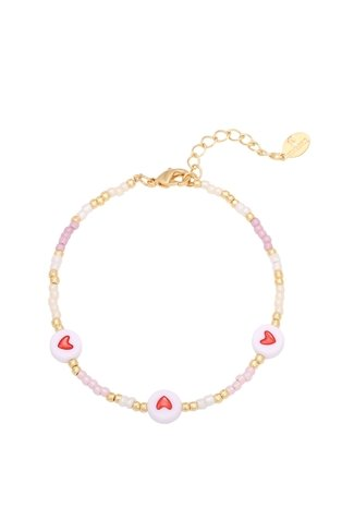 Heart Colors Bracelet Gold