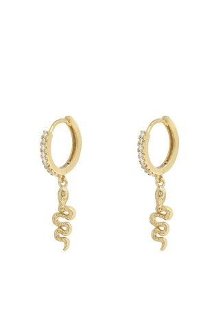 Shiny Snake Earrings Gold