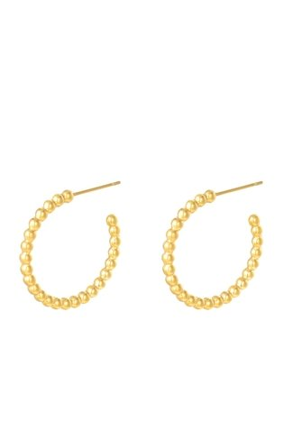 Dotted M Earrings Gold
