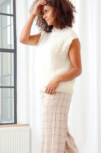 Cable Knit Debardeur Cream Sweet Like You