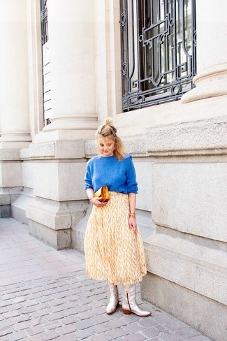 Cokko Yellow Midi Skirt