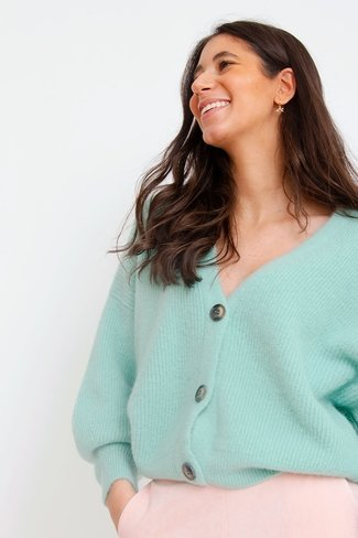 Short Buttoned Cardigan Mint Orla