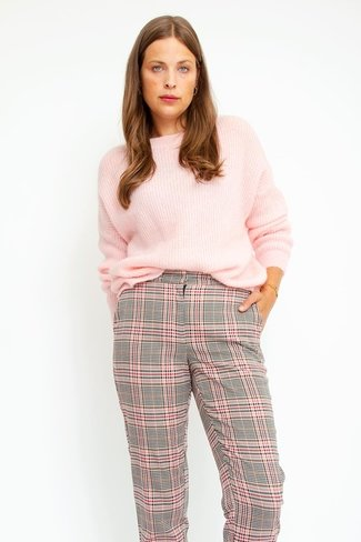 Yasmya Check Pants Pink