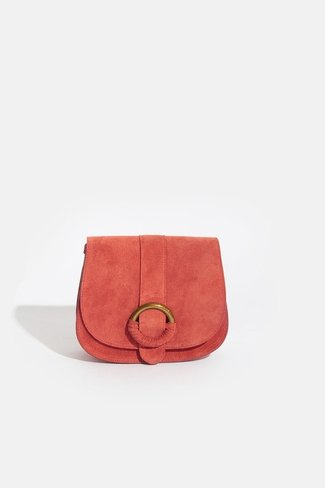 Suede Ring Bag Orange Sweet Like You
