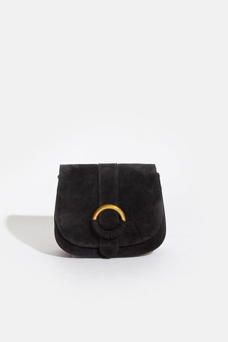 Suede Ring Bag Black Sweet Like You